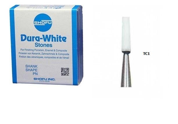 Shofu Dura-White TC1 (12 штук) шліфувальні камені для композитів і кераміки