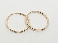 Золотые серьги с алмазной гранью. Артикул 100033