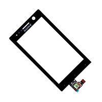 Тачскрин сенсор для Sony ST25i черный