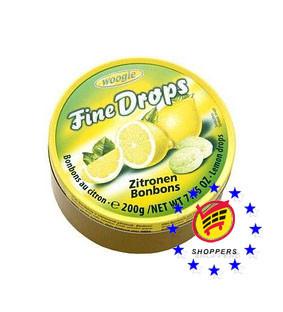 Леденцы Woogie Fine Drops (лимон), 200 г