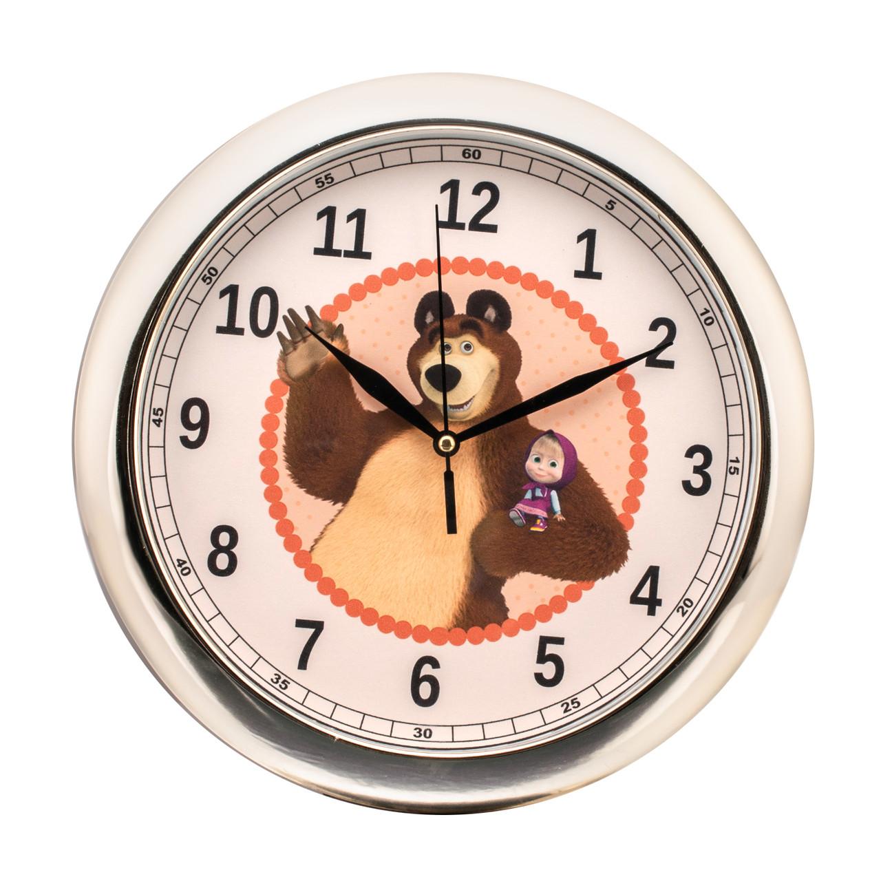 Часы настенные детские Медведь d22