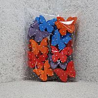 Метелики маленькі 9см, товщ 1,6 см 50шт. фарбовані