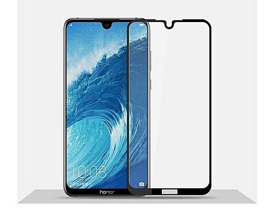 Стекло Full Coverage (с клеем по всей поверхности) для Huawei Honor 8X Max цвет Black, фото 2