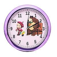 Часы настенные детские Маша и Медведь d30