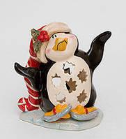 """Фарфоровый подсвечник """"Пингвин в танце на льду"""" (Pavone) BS-505"""
