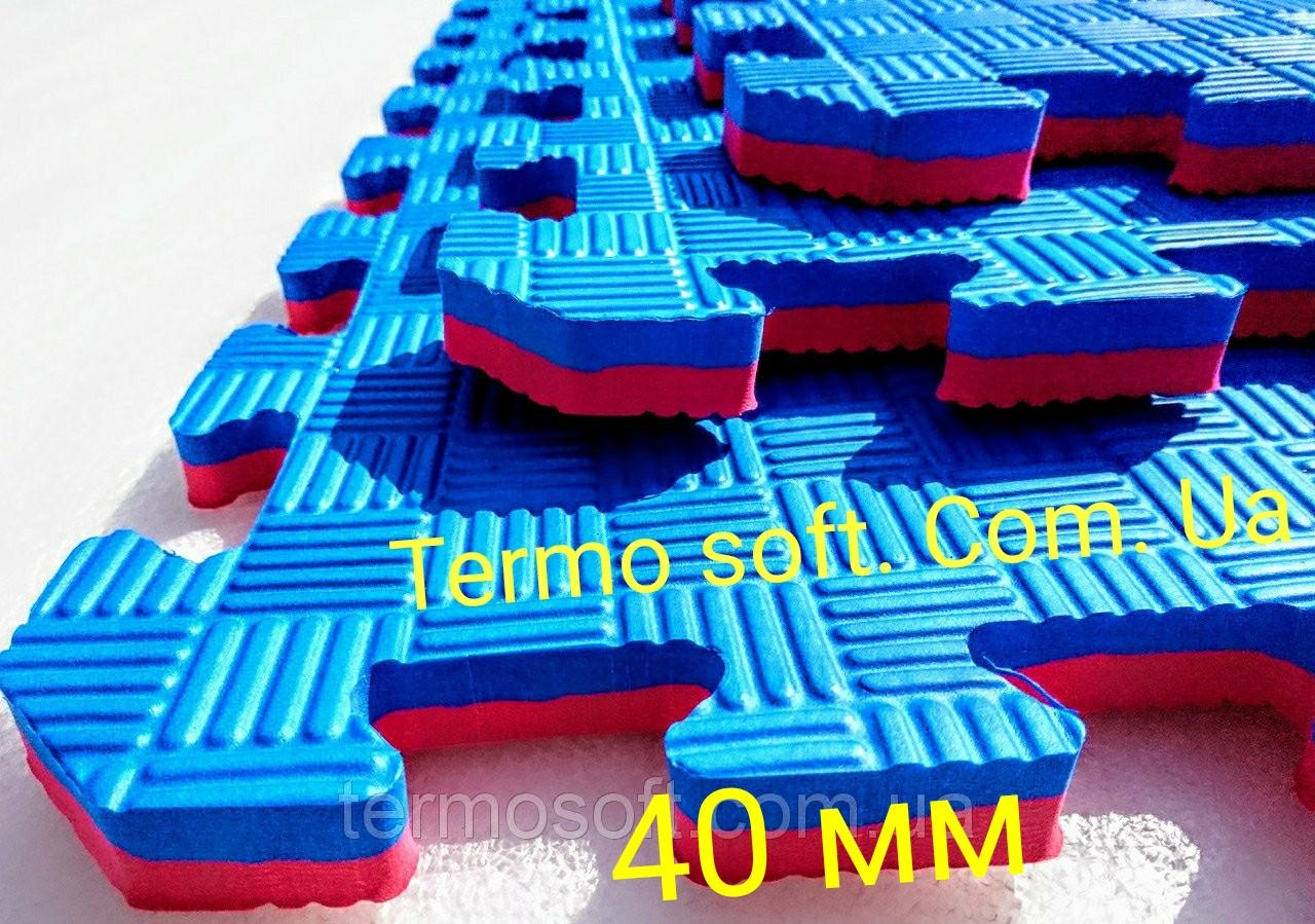 """Модульное напольное покрытие для спортивных залов ТАТАМИ """" Ласточкин хвост"""" 40 мм."""