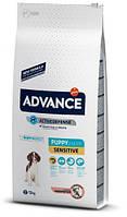 Сухой корм для собак Advance Dog Puppy Sensitive 12 кг. для щенков всех пород с чувствительным пищеварением