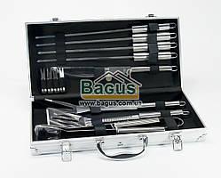 Набор инструментов для барбекю из нержавеющей стали в чемодане (12пр./наб.) Dynasty DYN-12080