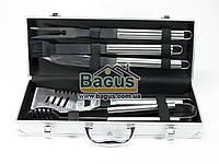 Набор инструментов для барбекю из нержавеющей стали в чемодане (5 пр./наб.) Dynasty DYN-12002, фото 1