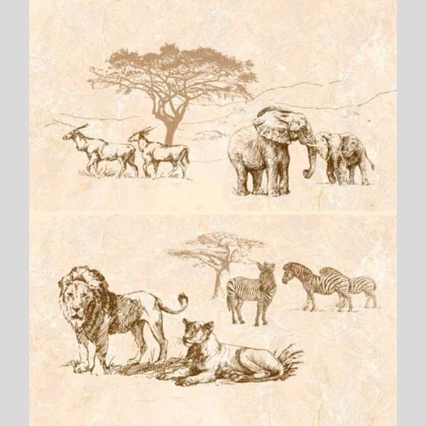SAFARI Декор-панно  коричневый/П 73 031