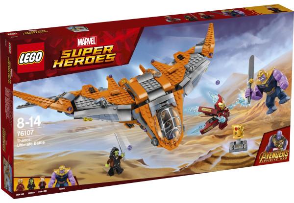 Lego Super Heroes Война бесконечности Танос - последняя битва 76107