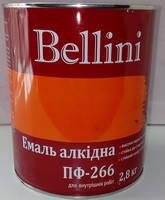Эмаль алкидная для пола ПФ-266 Bellini красно-коричневая 2.8 кг, фото 1