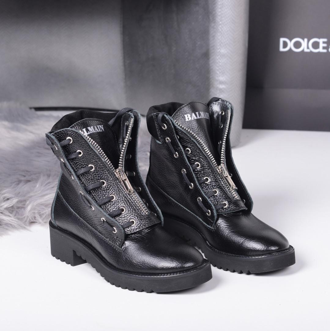 Ботинки Balman впереди молния черные. Натуральная кожа. Аналог