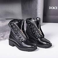 Ботинки Balman впереди молния черные. Натуральная кожа. Аналог, фото 1