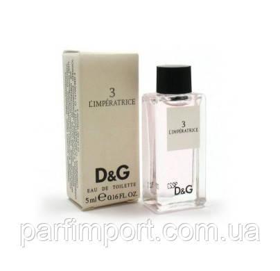 Dolce & Gabbana L`imperatrice №3 EDT 5 ml Туалетная вода женская (оригинал подлинник  Великобритания)