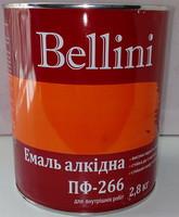 Эмаль алкидная для пола ПФ-266 Bellini жёлто-коричневая 2.8 кг