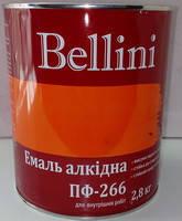 Эмаль алкидная для пола ПФ-266 Bellini жёлто-коричневая 2.8 кг, фото 1