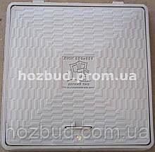 Люк пластиковий квадратний 650*650 мм (сірий)