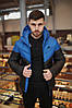 "Зимняя черно-синяя мужская куртка Nike jacket ""two in one"""