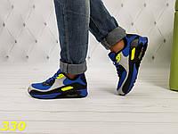 Кроссовки аирмакс сине-желтые, фото 1