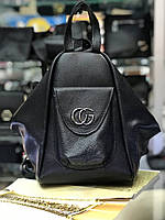 Сумка-рюкзак кожаная Gucci (реплика) black