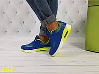 Кроссовки аирмаксы желто-синие, фото 1