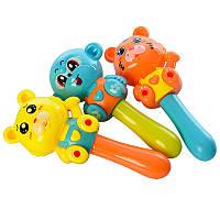 Погремушка 665-3 15см, 3 іграшки в наборі (Ведмедик, Мавпочка, Тигр), в кульку