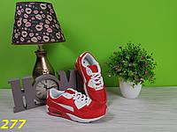 Кросссовки аирмаксы красные, фото 1