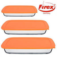 Набор стеклянных противней FIREX 3 шт. (236716) Прямоугольных