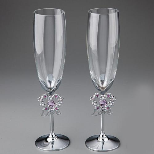Свадебные бокалы Crystocraft