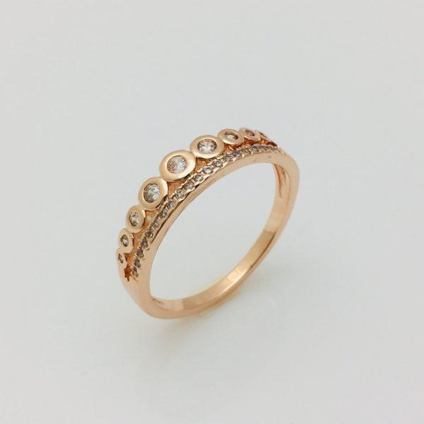 Кольцо на палец Колечки, размер 16, 17, 18, 19
