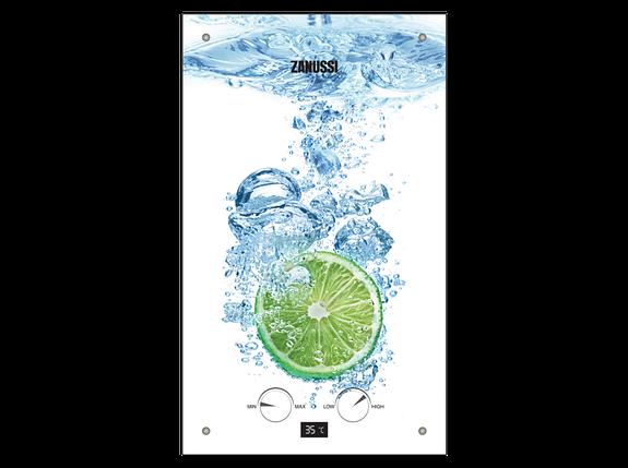 Проточный газовый водонагреватель Zanussi GWH 10 Fonte Glass Lime, фото 2