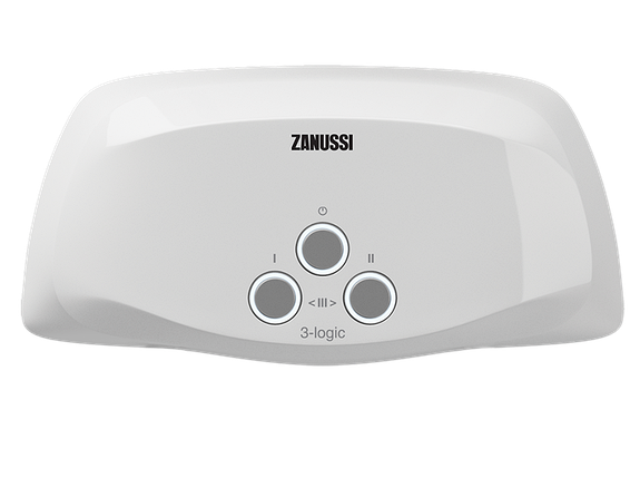 Водонагреватель Zanussi 3-logic TS (5,5 kW) - кран+душ, фото 2