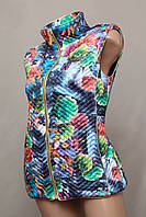 Жилетка женская Турция цветная тёплая стильная яркая модная  новинка воротник стойка
