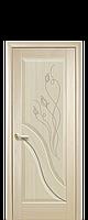Дверь межкомнатная Новый стиль Амата глухое с гравировкой (Ясень)