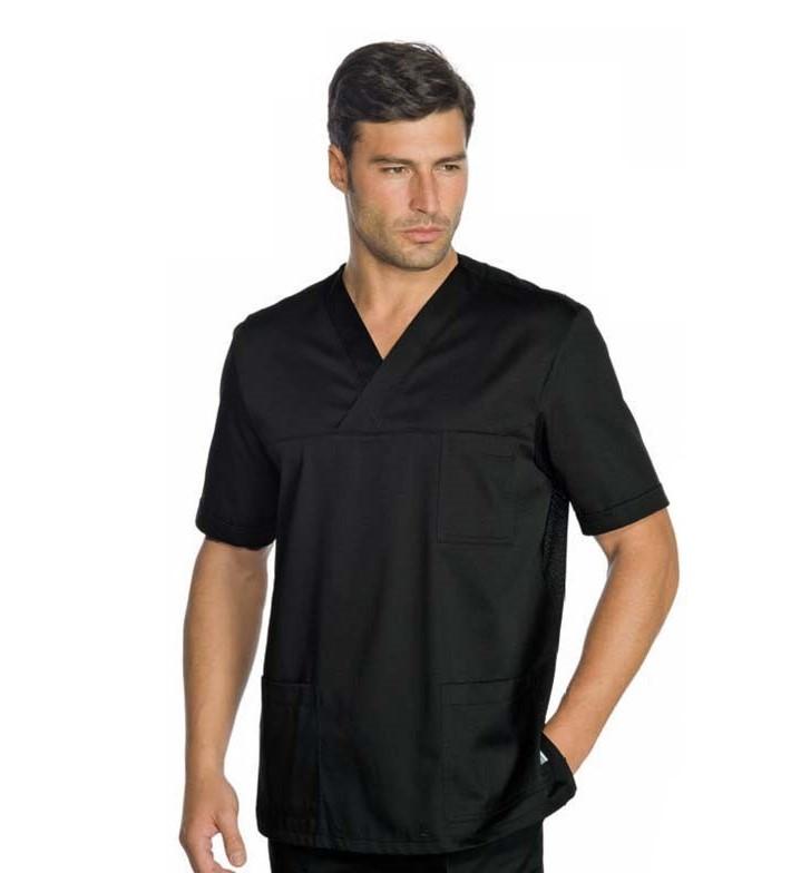 Медицинский костюм хирургический мужской черный - 03300