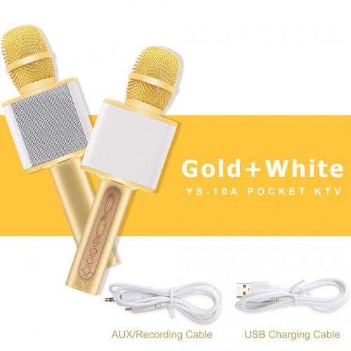 Беспроводной караоке-микрофон YS-10A с динамиком Magic Karaoke Gold