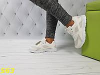 Хуарачи белые с лаковыми вставками, фото 1