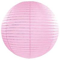 Бумажный подвесной шар розовый, 20 см