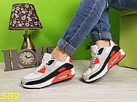 Кроссовки аирмаксы с персиковыми вставками, фото 1