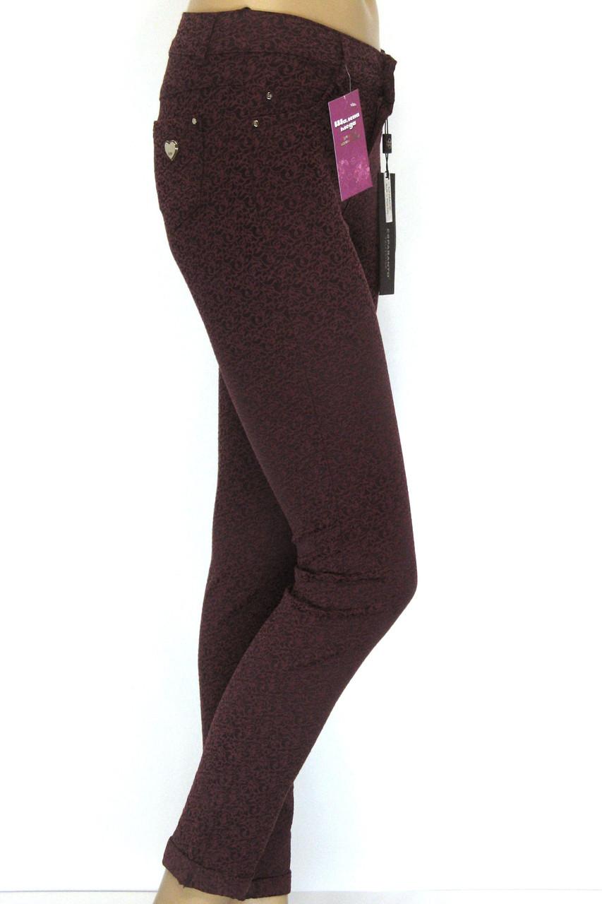 Жіночі  штани 3D кольору марсала Esparanto