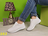 Кроссовки белые практичные прорезинены, фото 1