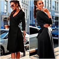 Черное платье-халат Alina (Код 401)