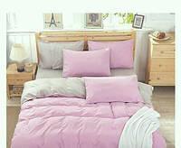"""Комплект постельного белья двуспальный """"Светло-розовый сатин"""""""