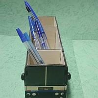 Органайзер (подставка для письменных принадлежностей) Автобус