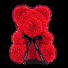 Мишка из роз в Подарочной упаковке (коробке), Красный,40 см, фото 2