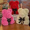 Мишка из роз в Подарочной упаковке (коробке), Красный,40 см, фото 9