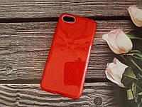 Чехол с блестками Shine для Huawei Y5 2018 Красный силикон
