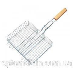 Решітка нержавіюча прямокутна для гриля, барбекю 320*250*50 мм EM-0103
