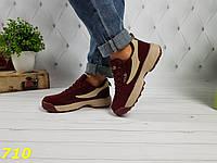 Кроссовки фила цвета марсала бордо, фото 1